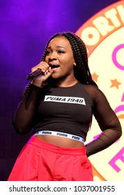 Camp Bestival - 28th July, 2017: British Nigerian female soul singer Rita Ekwere aka Ray BLK performing at Camp Bestival, Lulworth, Dorset 28 July 2017, UK