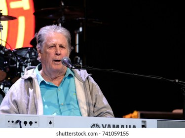 Camp Bestival -  29th July, 2017:  Former singer with American 60s band the Beach Boys Brian Wilson performing Pet Sounds  at Camp Bestival, Lulworth, Dorset 29 July 2017, UK