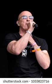 Camp Bestival - 30th July, 2017:  Richard Fairbrass singer with British duo Right Said Fred performing at Camp Bestival, Lulworth, Dorset 30 July 2017, UK