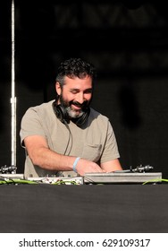 Camp Bestival - July 29 2016: DJ Yoda  aka Duncan Beiny performing at Camp Bestival 29th July 2016 Lulworth, Dorset, July 29th t 2016 in Dorset, UK