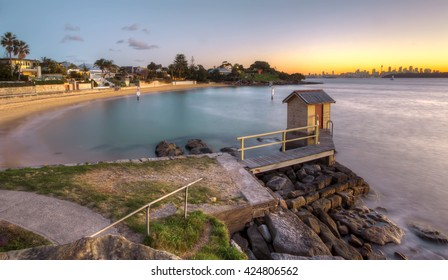 Camp Cove, Sydney, Australia at sunset