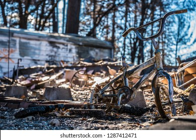 Camp Fire aftermath of my homes in Paradise California.
