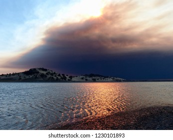 The Camp Fire from Black Butte Lake, November 8, 2018. The most deadly and destructive fire in California history.