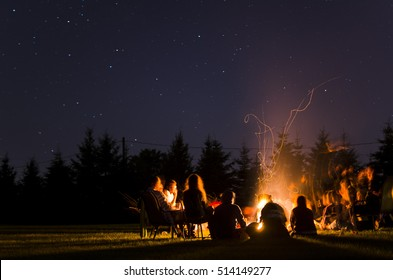Camp Fire in Summer
