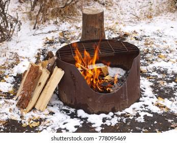 Camp fire, Yukon