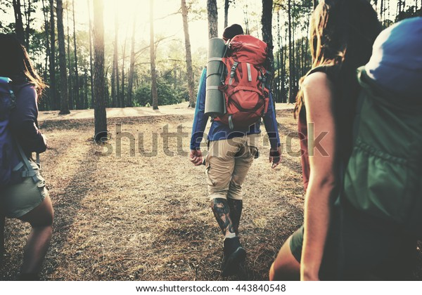 Camp Forest Adventure Travel Remote Relax Konzept