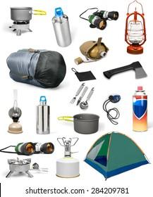 Camp, gear, object.