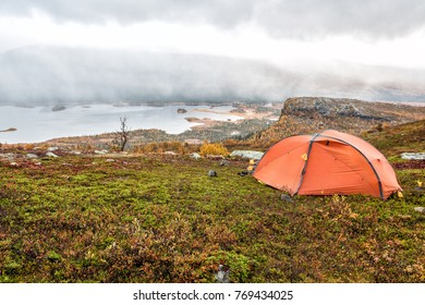 Camp on the Kungsleden in Autumn