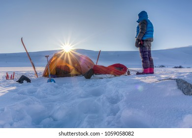 Camp on a Winter-Expedition
