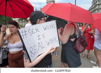 Campaigners protest against raids on sex workers in London and demanding better protection ,London,04/07/2018