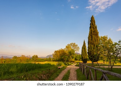 Campania Felix, Italy.  Wonderful view of one of the most beautiful sites in southern Italy called by the ancient Romans Campania Felix.