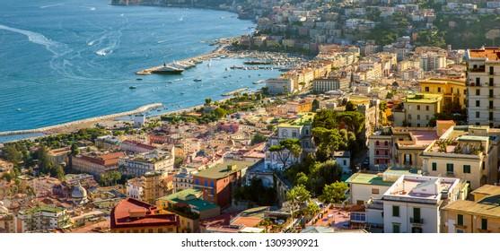 Campania - Panorama of Naples city, Italy