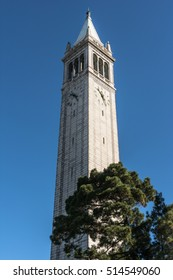 The Campanile in Berkeley, California Berkeley,California,USA - October 26, 2016 : The Sather Tower in the Campus of UC Berkeley