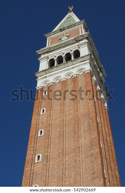 Campanile San Marco (meaning St Mark church steeple) in St Mark square in Venice, Italy