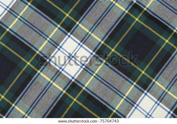 Campbell tartan wool fabrics