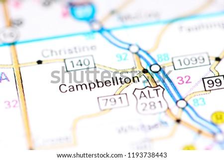 Campbellton Texas USA On Map Stock Photo (Edit Now) 1193738443 ...