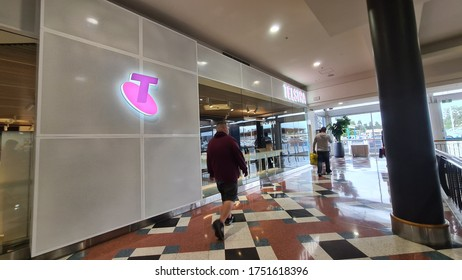 CAMPBELLTOWN, NSW, AUSTRALIA - 23 MAY 2020 : TELSTRA FRONT STORE