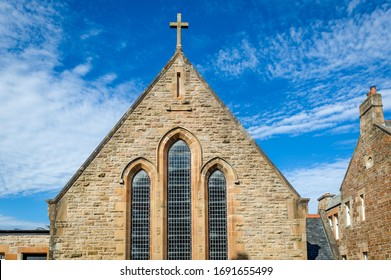 Campbeltown medieval church front view. Kintyre peninsula, Scotland