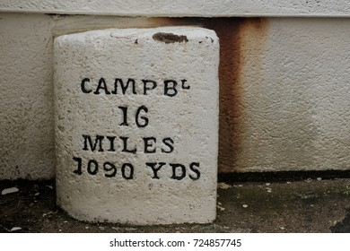 Campbeltown milestone at Mull of Kintyre