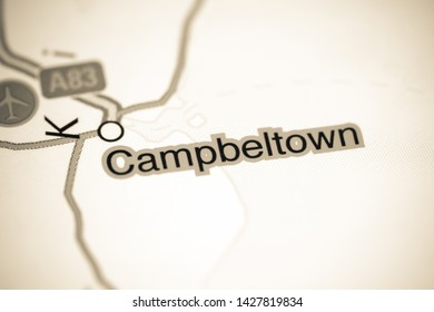 Campbeltown. United Kingdom on a map
