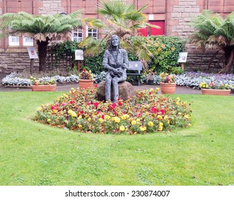 CAMPBELTOWN,SCOTLAND-OCTOBER 24 2114:Memorial garden of Linda McCartney late wife of Paul McCartney on the Kintyre Peninsula who died of cancer in 1998