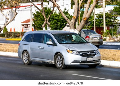 CAMPECHE, MEXICO - MAY 20, 2017: Motor car Honda Odyssey in the city street.