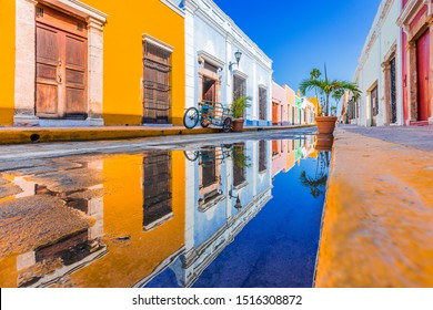 Campeche, Mexico. Street in the Old Town of San Francisco de Campeche.