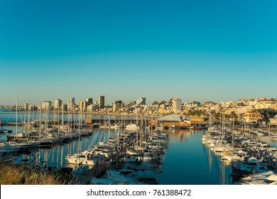 Campello bay and Marina, Costa Blanca, Alicante, Spain