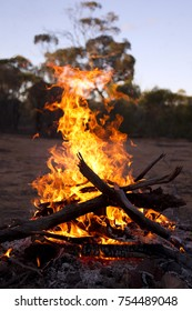 Campfire at the Australia outback