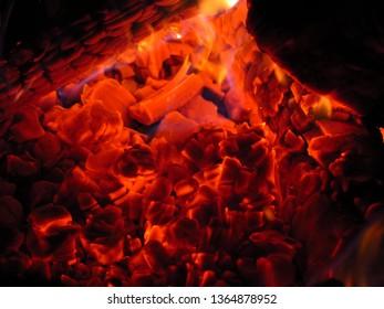 campfire in Brockville Ontario Canada May