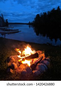 Campfire by the lake side