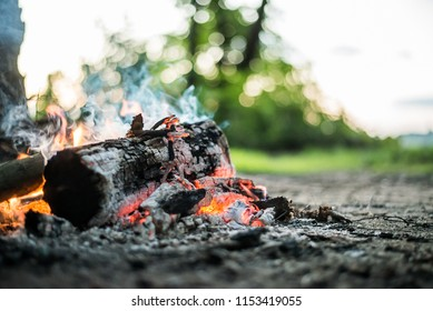 campfire in the open air
