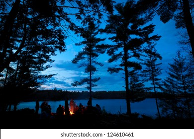 Campfire Summer with Stars