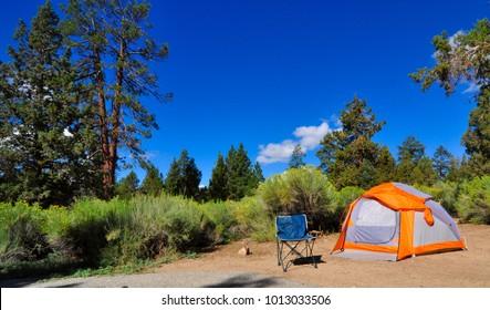 campground Big bear lake California, USA