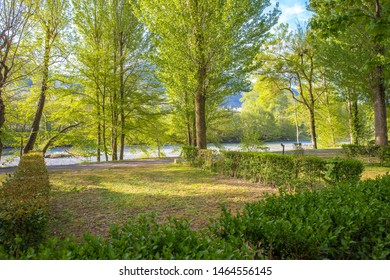 Campground in France. Free pitches on a camp site in the beautiful Tarn gorges.