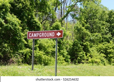 A campground sign.