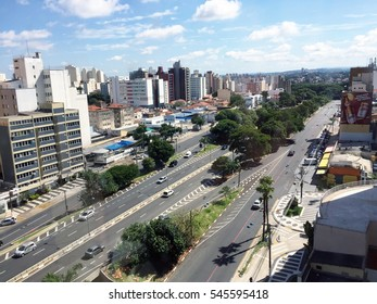 CAMPINAS, BRAZIL - 30 DECEMBER 2016: Skyline of the city of Campinas, Brazil (in Sao Paulo state)