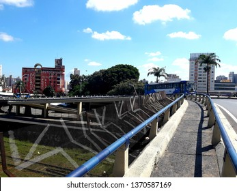 CAMPINAS, BRAZIL - APRIL 09, 2019: Terminal Cury Street, from the most visited places in Campinas, using public transportation, it has access to the Central Terminal of Campinas and downtown.