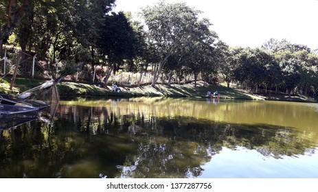 CAMPINAS, BRAZIL - APRIL 20, 2019: Jardim do Lago Neighborhood continued in Campinas, near the Lix da Cunha Avenue.