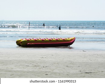 CAMPINAS, BRAZIL - AUGUST 01, 2018: promenade and lots of fun on the beach of peruibe interior of São Paulo in Brazil.