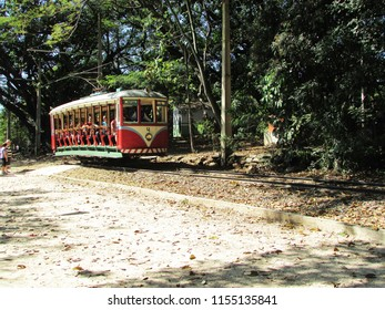 CAMPINAS, BRAZIL - AUGUST 07, 2018: Parque Portugal is a park in the district of Taquaral, in the Eastern Region of Campinas, in the state of São Paulo, Brazil. It is the most famous park in the city
