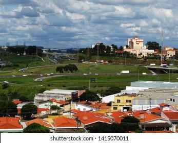 CAMPINAS, BRAZIL - JUNE 02, 2019: Jardim São Marcos is a neighborhood of the North Zone of Campinas, south of J. Santa Monica and a Highway D. Pedro I and Southwest is a Estrada dos Amarais.