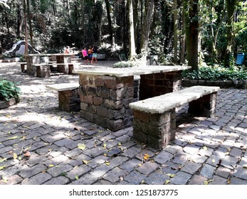CAMPINAS, BRAZIL NOVEMBER 30, 2018: Bosque dos Jequitibás, created in the 1880s, is a park located in the Central Region of the city of Campinas, being one of the largest and oldest leisure areas.