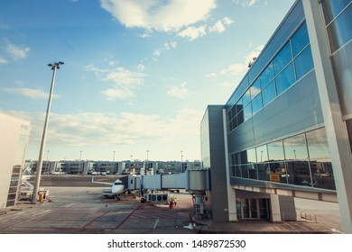 CAMPINAS, SAO PAULO, BRAZIL - March 22, 2019: International Airport named Viracopos, one of the largest Brazilian airports.