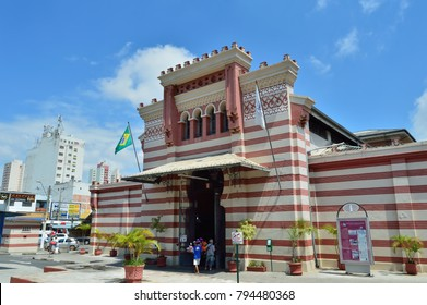 Campinas, SP/ Brazil - February 5, 2017 - Historic building facade of the City Market