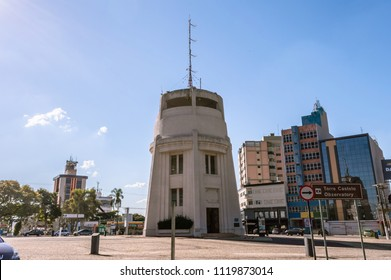 Campinas, SP/ Brazil - June 24, 2018: The Castle (Castelo). Famous landmark and important touristic attraction in the city. This building is a water tank constructed in 1940