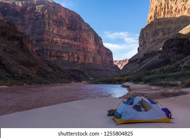 Camping Along The River In Grand Canyon National Park