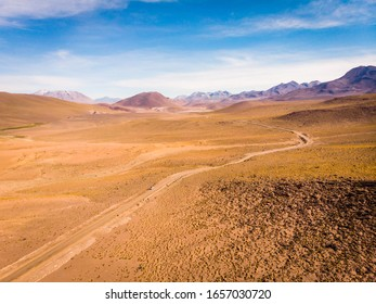 Camping in the atacama desert in northern chile