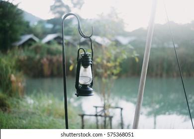 Camping camp for weekend  ,resort,camp,lantern vintage