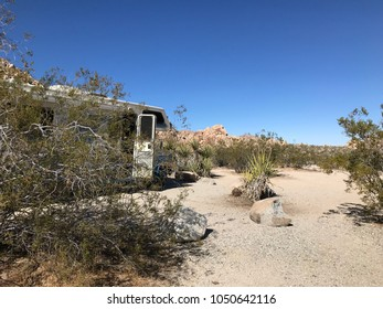 Camping in the desert.